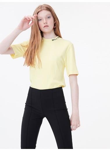 Twist Tişört Sarı